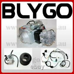 125cc Fully Auto Engine Motor + Wiring kit + Carby PIT QUAD DIRT BIKE ATV BUGGY