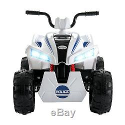 12V Kids Ride On Electric Quad Bike ATV Toy Car Dune Buggy Music MP3 White