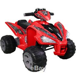 12V Red Kids Quad Bike Electric ATV Battery Powered Children Ride On Cars XMAS