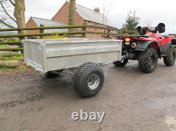 ATV tipping trailer 5x3 with 16 high sides. ATV Quad bike, compact tractor