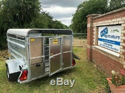 CLH Livestock trailer single axle 7ft x 4ft 6 canopy dropsides atv quad bike