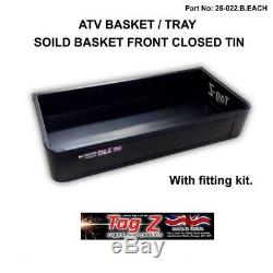 New Atv Quad Bike Solid Basket / Tray /cargo Rack Front & Rear With Fitting Kit
