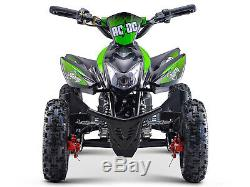 Stomp AC-DC Electric MX Motocross All Terrain Off Road ATV QUAD BIKE Neon Green