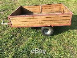 Tipping Trailer for ATV Quad Bike, Compact Tractor (Manual Trip)